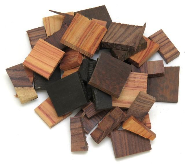 chutes de bois m lang s pour manche de couteau. Black Bedroom Furniture Sets. Home Design Ideas
