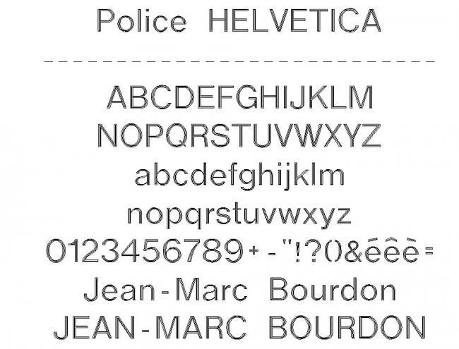 police helvetica