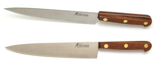 couteau de cuisine mincer lame 20 cm en bois et rivets laiton. Black Bedroom Furniture Sets. Home Design Ideas