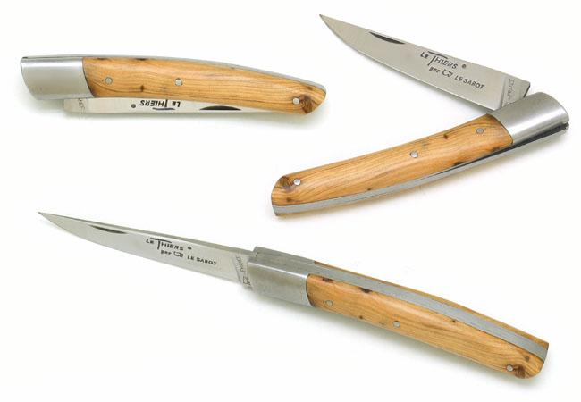 couteaux de poche le thiers en bois de genevrier cade. Black Bedroom Furniture Sets. Home Design Ideas